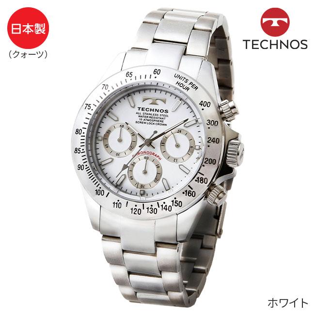 テクノス クロノグラフ腕時計