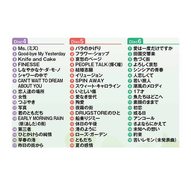 CYNTHIA ALIVE(シンシア・アライブ) 南 沙織 CD6枚組