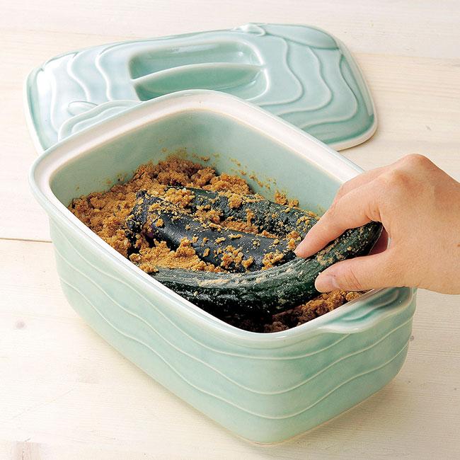 ぬか漬け鉢セット(ぬか床3袋付き)