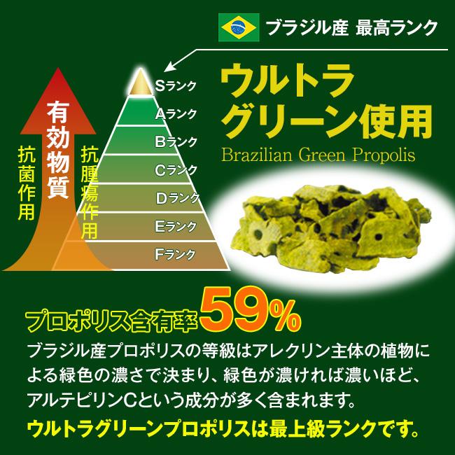 ブラジル産最高ランク ウルトラグリーン使用 プロポリス