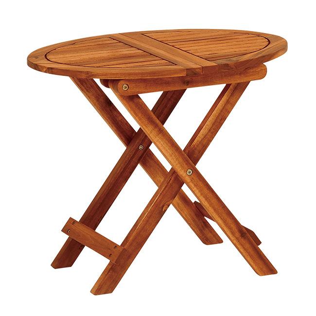 木製折りたたみサイドテーブル