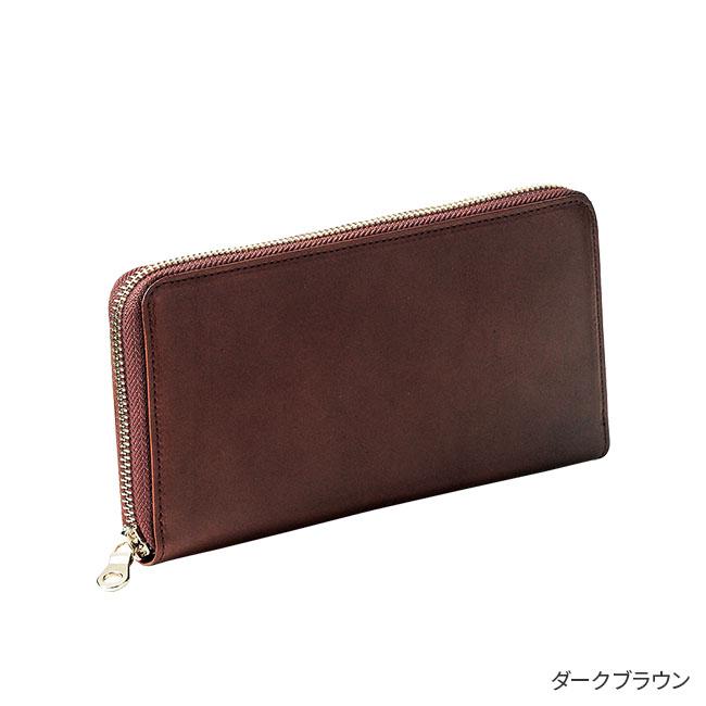 栃木レザー ラウンド長財布