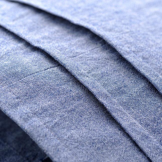 涼やかダンガリー7分丈パンツ2色組