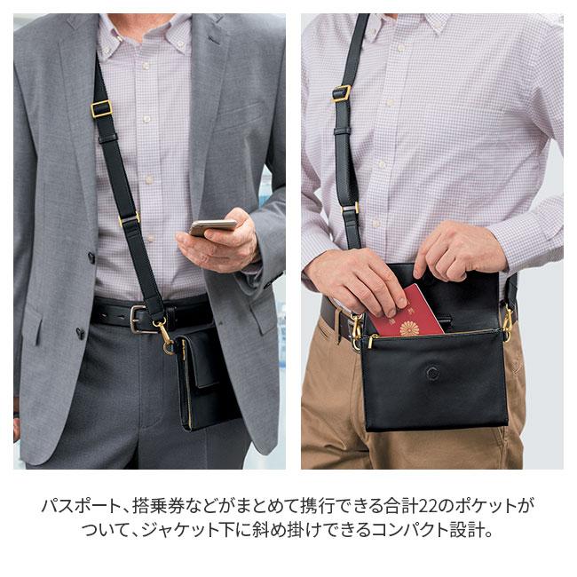 高級ラム革製薄型ショルダーバッグ
