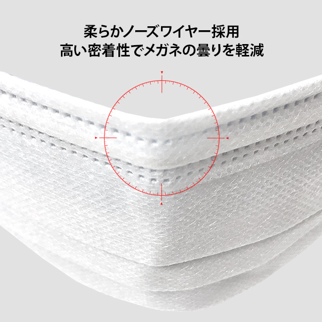 PFEウイルス99%カット 高性能フィルター使用不織布マスク50枚組