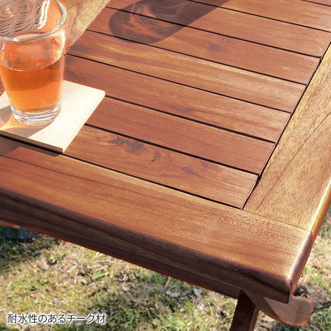 室内外使える 木製折り畳みテーブル