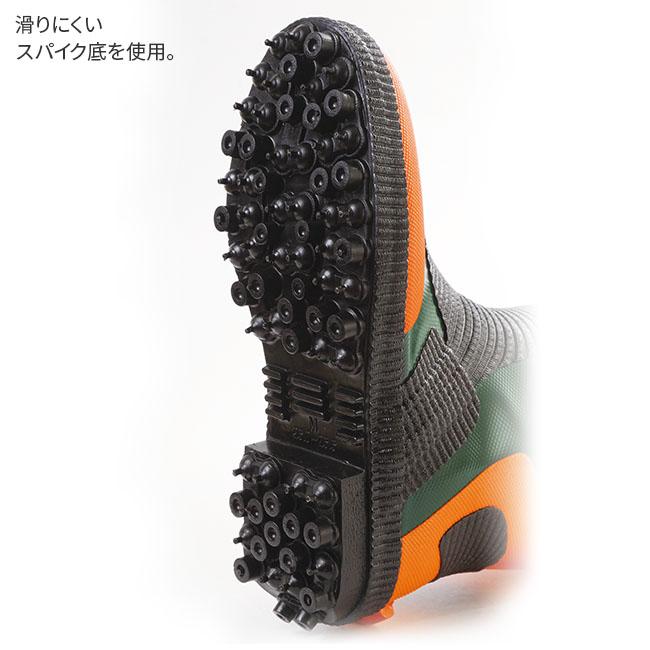 メッシュ繊維入りスパイク長靴