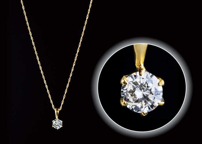 〈SIクラス〉18金ダイヤネックレス