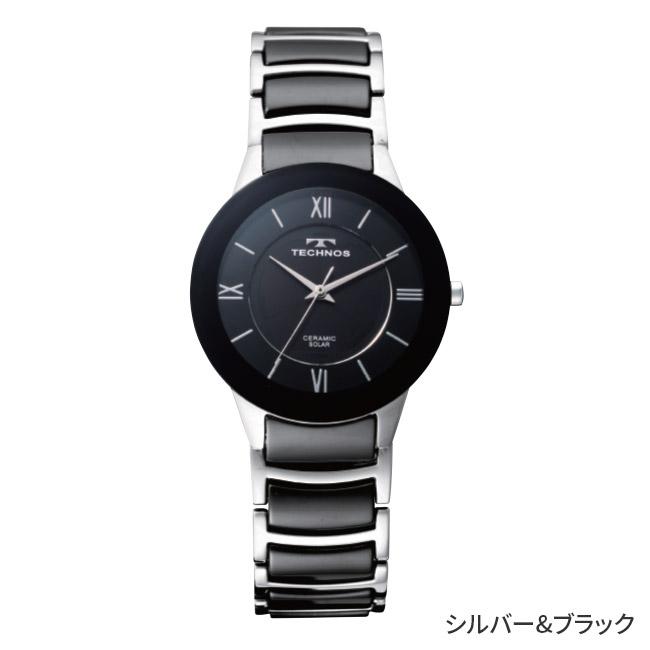 テクノス セラミックソーラー腕時計