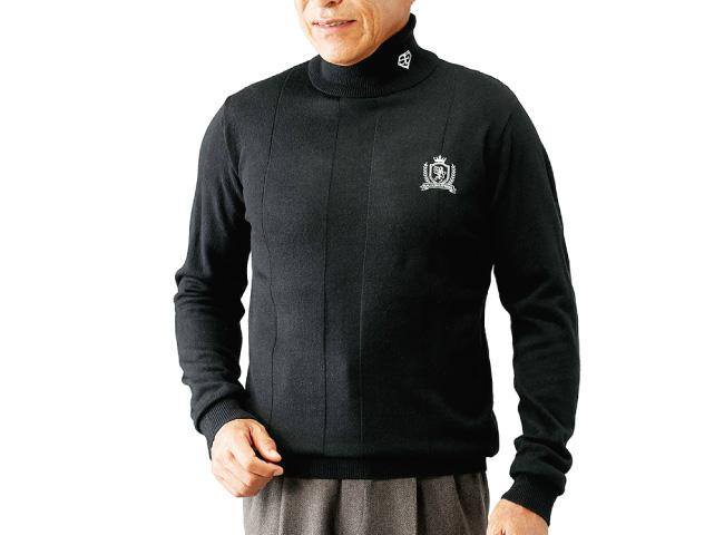 モノトーンタートルネックセーター3色組