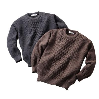 日本製ウール100%クルーセーター
