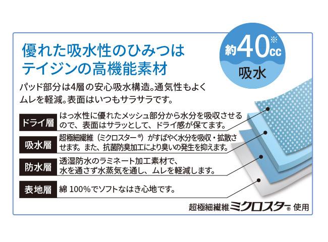 ウェルドライ吸水パンツ3枚組(ブリーフ)