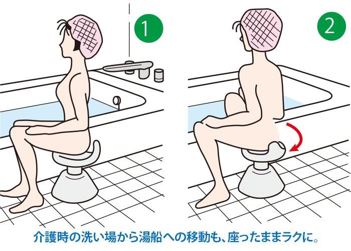 お風呂用回転イス