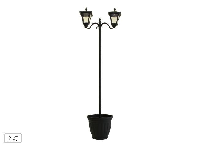 プランター付きソーラー庭園灯