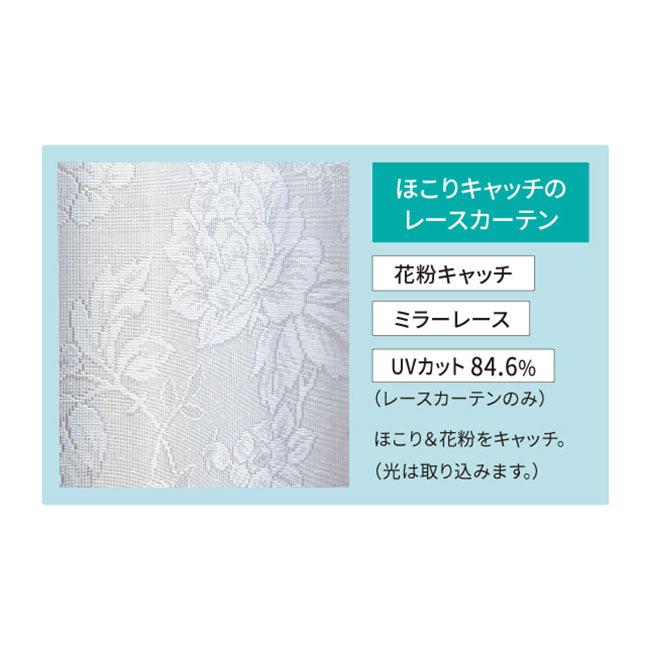 花柄カーテンセット