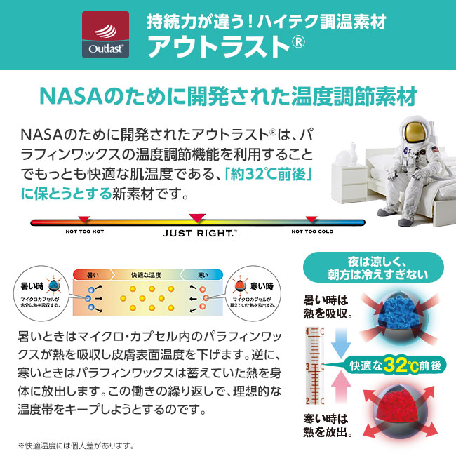 <NASAアウトラスト使用>涼感ひんやり敷パッド(枕パッド付き)