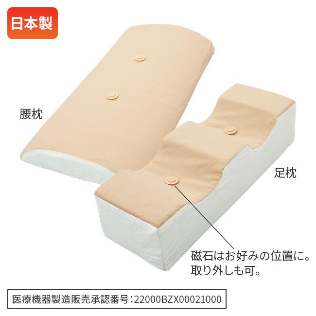 爽快マグ付き腰枕&足枕セット