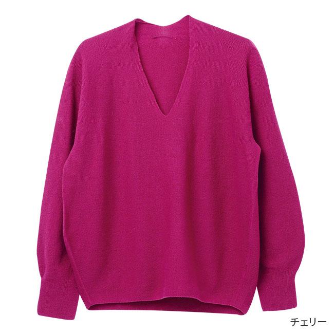 ホールガーメント Vネックセーター