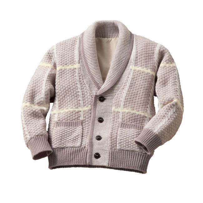 オーストラリア羊毛使用くつろぎカーディガン