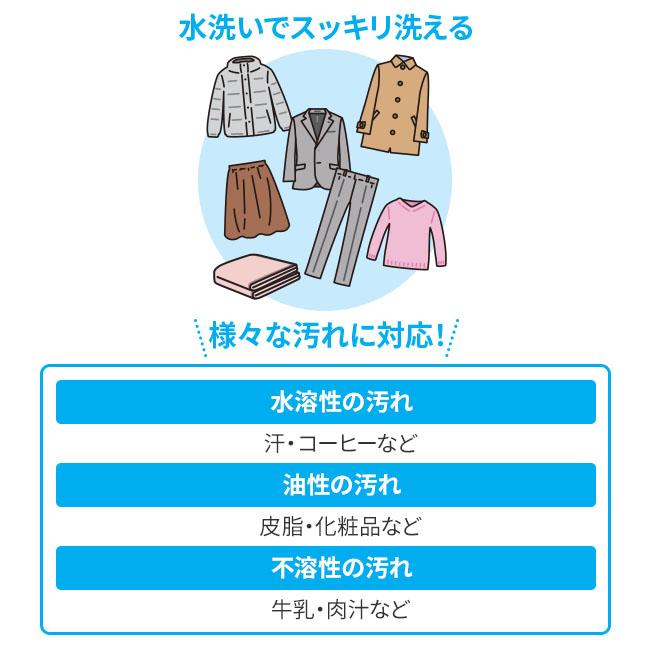 日本製 ドライクリーニング用洗剤 専用洗濯ネット付き