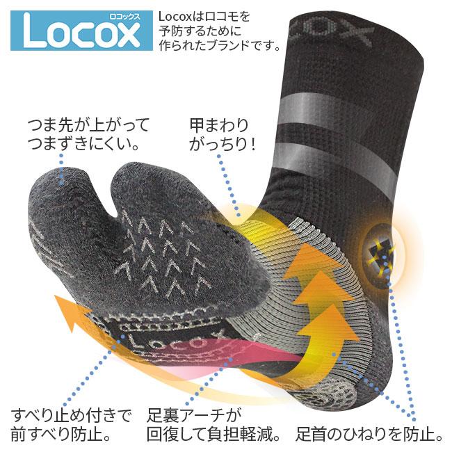 <Locox>バイタルウォークフットサポーター 3色組