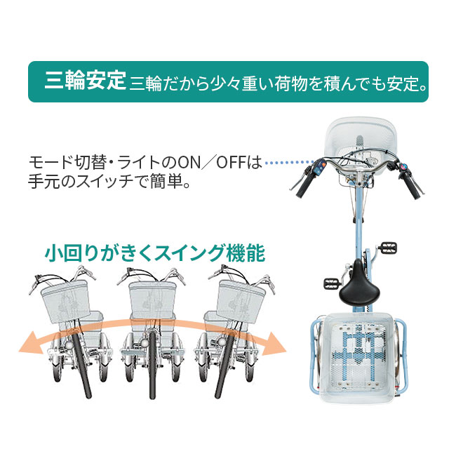 あしらくチャーリーミニ電動三輪自転車(ローサイズ)特典付き