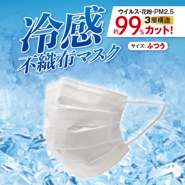<接触冷感>安心の不織布マスク 250枚