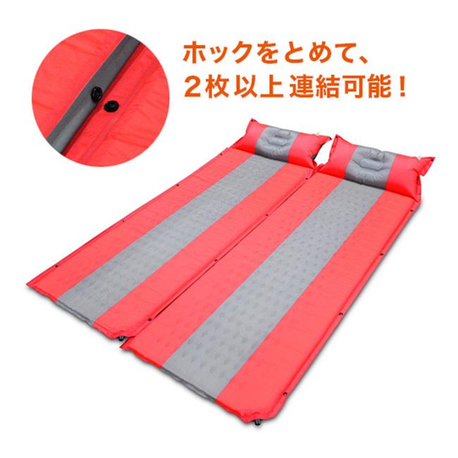 自動膨張枕付きマットレス(収納バッグ付き)