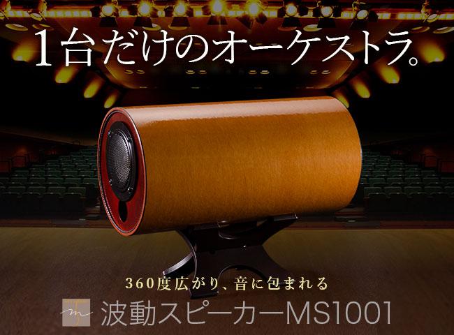 エムズシステム波動スピーカーMS1001M-M(メープル)