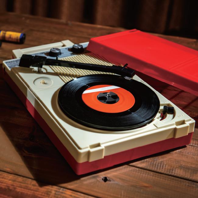 ANABAS audio ポータブルレコードプレーヤー GP-N3R | TVショッピング ...