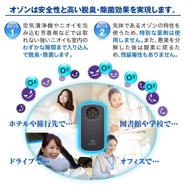 低濃度オゾン発生器 オゾバリア モバイルタイプ