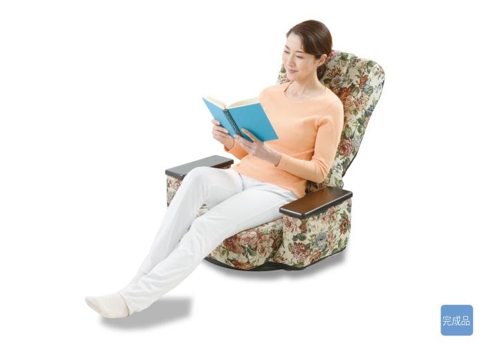 肘掛け付きゆったり回転座椅子