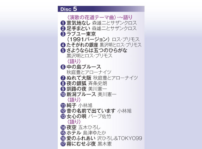 演歌の花道~ムード歌謡篇~CD5枚組