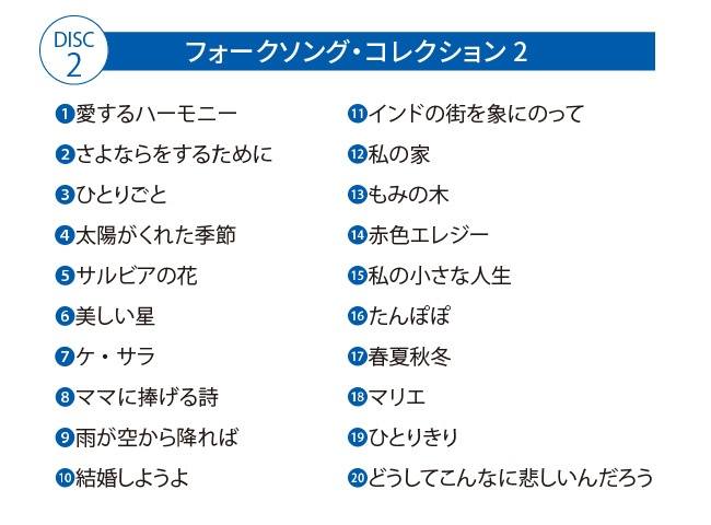 本田路津子 フォークソングス CD5枚組