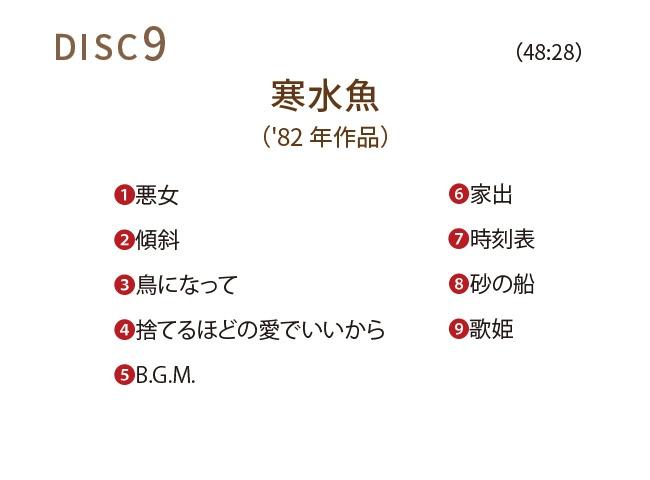 中島みゆき1976~1983 CDボックス10枚組