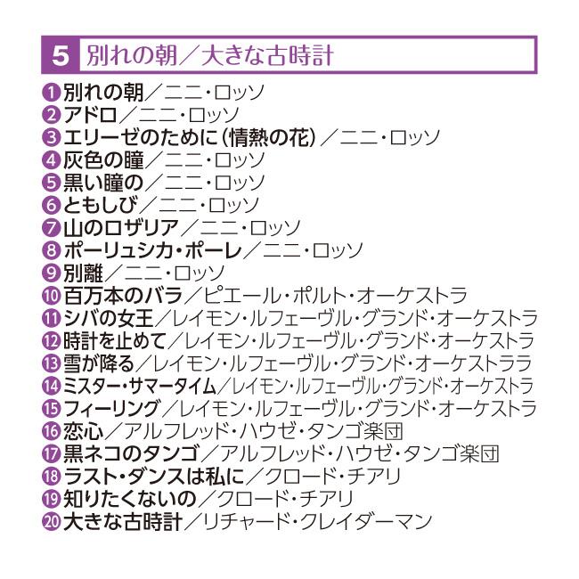 巨匠が奏でる~魅惑の昭和平成ヒット・メロディ集 CD5枚組