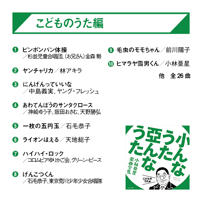 小んなうた 亞んなうた~小林亜星 楽曲全集 CD5枚組~