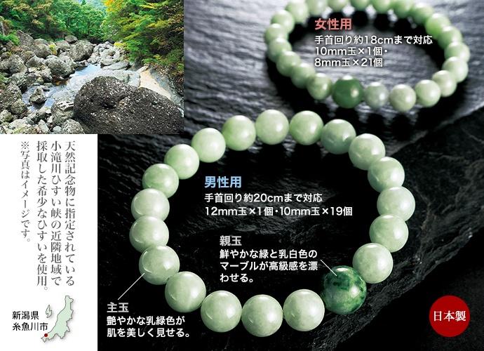 糸魚川産ひすいブレスレット