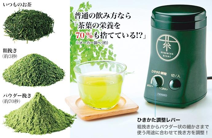 電動お茶ひき器(遠州掛川茶 1袋プレゼント)