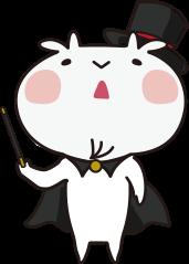やぎ蔵のイラスト「ぜひご登録を!」