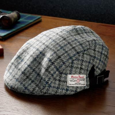 ハリスツイードハンチング帽