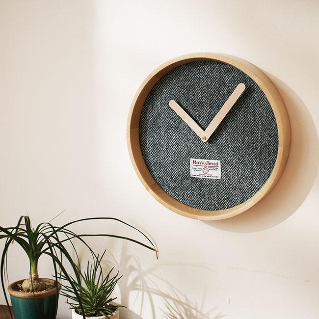 ハリスツイード クロック(壁時計)