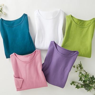 カラー七分袖Tシャツ5色組