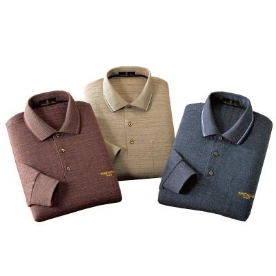 杢調格子柄ポロシャツ3色組