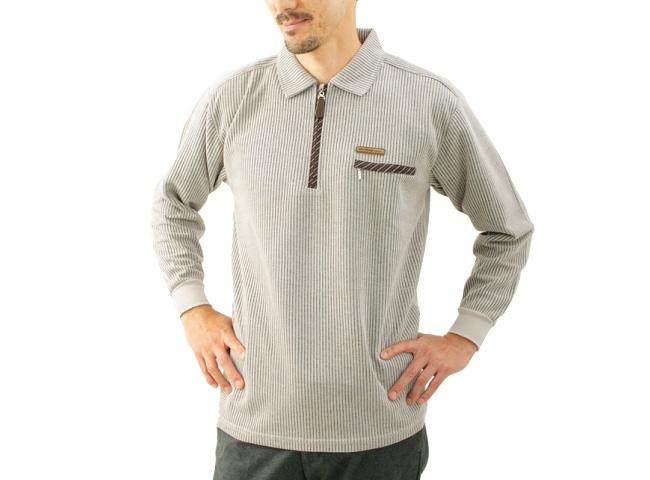 ジップアップポロシャツ3色組