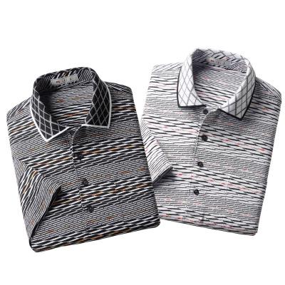 日本製エレガント半袖ポロシャツ2色組