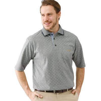 市松柄五分袖ポロシャツ3色組