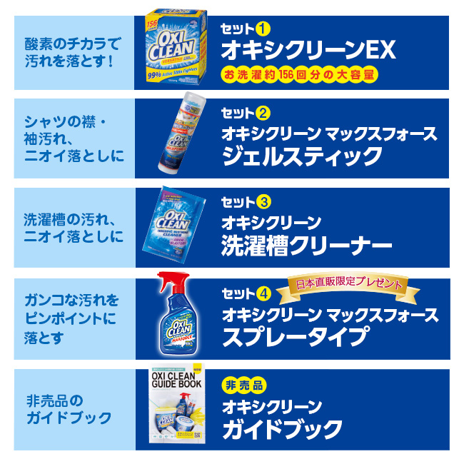 【ショップ島TV放映中】オキシクリーンEX 日本直販オリジナルセット(プレゼント付)