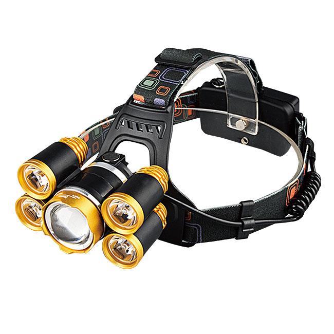 充電式ズームヘッドライト2台セット