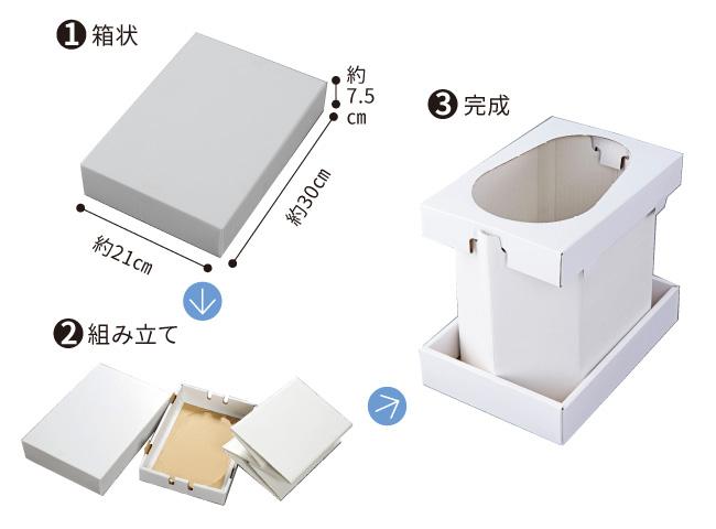 組立便器付き非常用トイレ35回セット